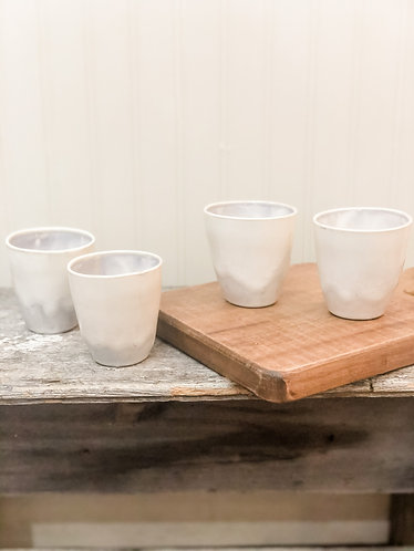 Mini Stoneware Cup Set (4)