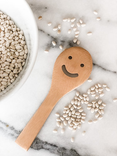 Bamboo Smiley Face Spoon