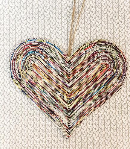 Hanging Paper Heart