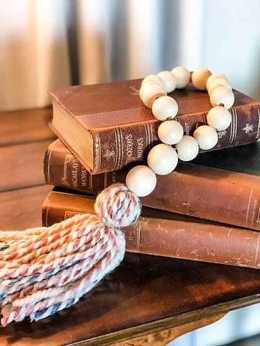 Multi Wood Bead Tassel