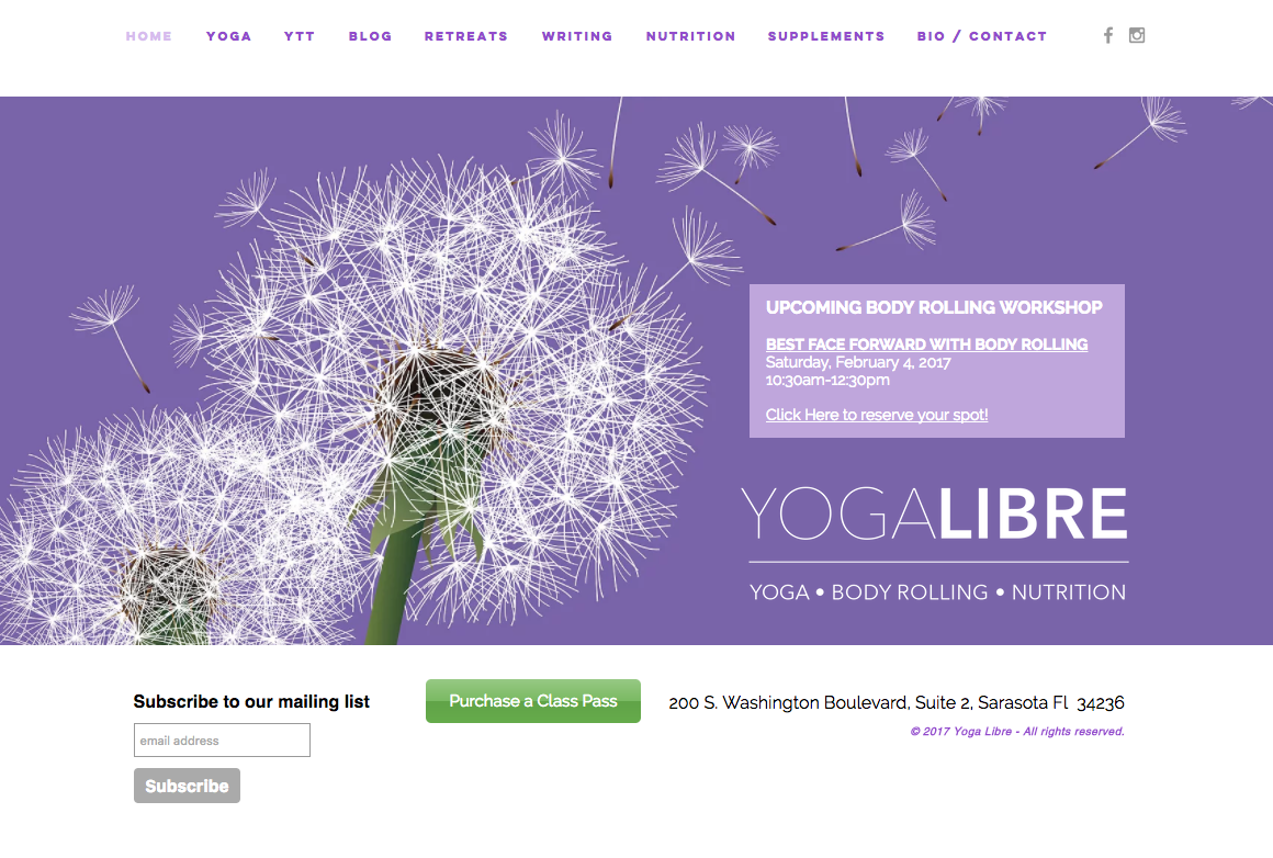 Yoga Libre Website