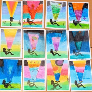 Year 3 have had a busy Art afternoon