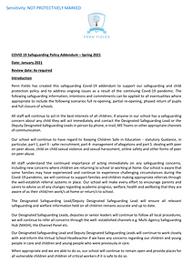 Covid-19 spring 2021 safeguarding addend