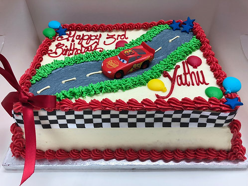 Lightening McQueen Rectangle Cake