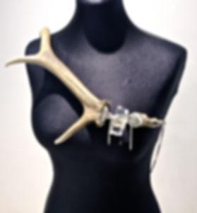 Ornate glass necklace