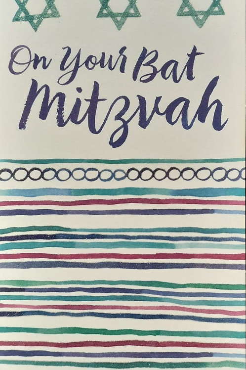 Bat Mitzvah Card