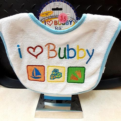 Baby Bib- I love Bubby