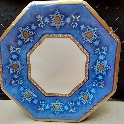 Star of David dinner plates