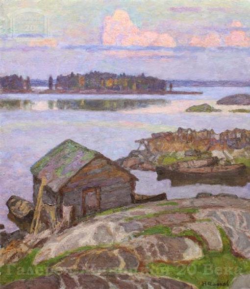 Vecher v Karelii Холст, масло,  70 60,5