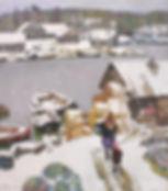 Teplaya zima Холст, масло, 49,5 44 1992