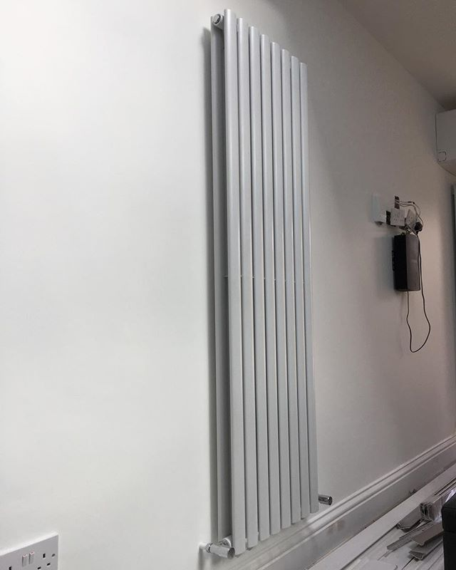 Column Radiator installed #radiator #columnradiator #harrow #london #gas #heating #plumbing #makfore