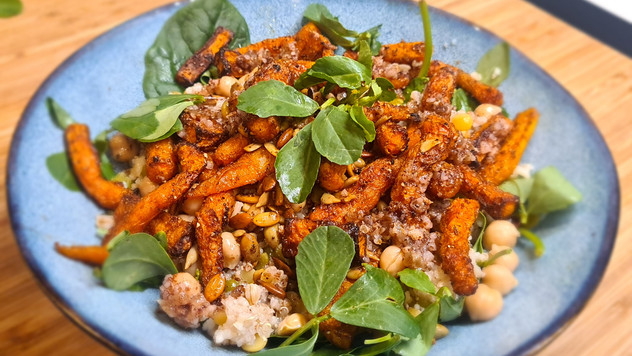Roasted Carrot and Grain Salad