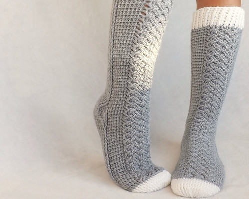 Crochet Pattern Parker Cable Crochet Socks