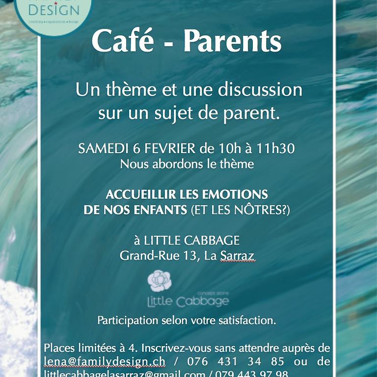 Café - Parents  Un thème et une discussion sur un sujet de parent.