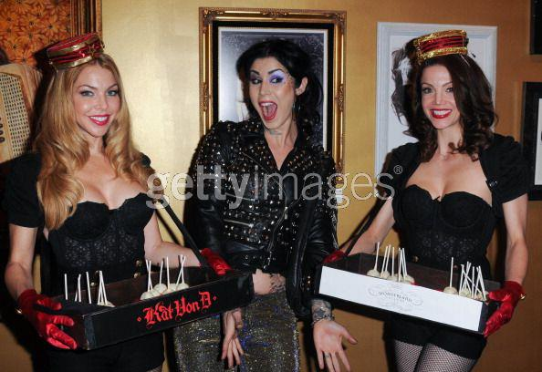 Kat Von D with Bella's Dolls