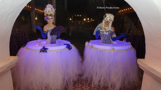 Masquerade Theme with Strolling Tables and Skirts