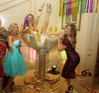 Mardi Gras private event last night