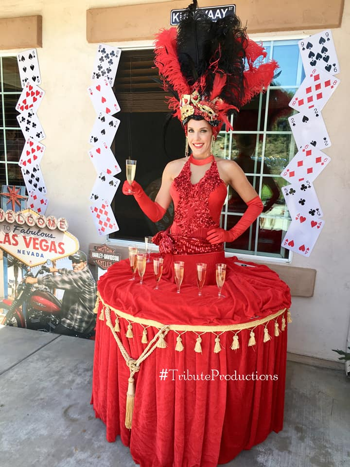 Casino Theme Vegas Showgirl