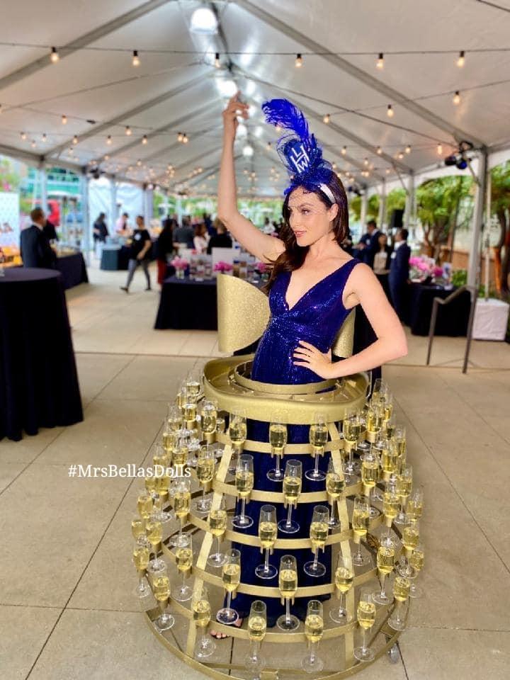 Deep blue Champagne Dress