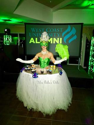 Masquerade green WCU Alumni