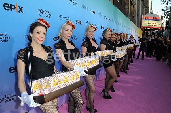 Usherettes on the pink carpet