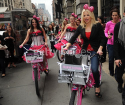 Candy girls on bikes