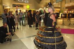 strolling branded champagne skirt