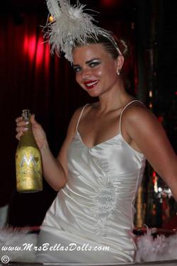 Champagne bottle branding