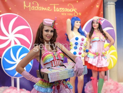 candy girl with branded candy tray