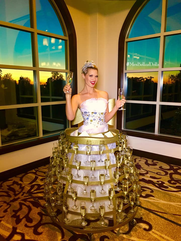 Silver & gold Champagne Dress