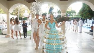 White & blue Mykonos Night for Event designer Kevin Lee