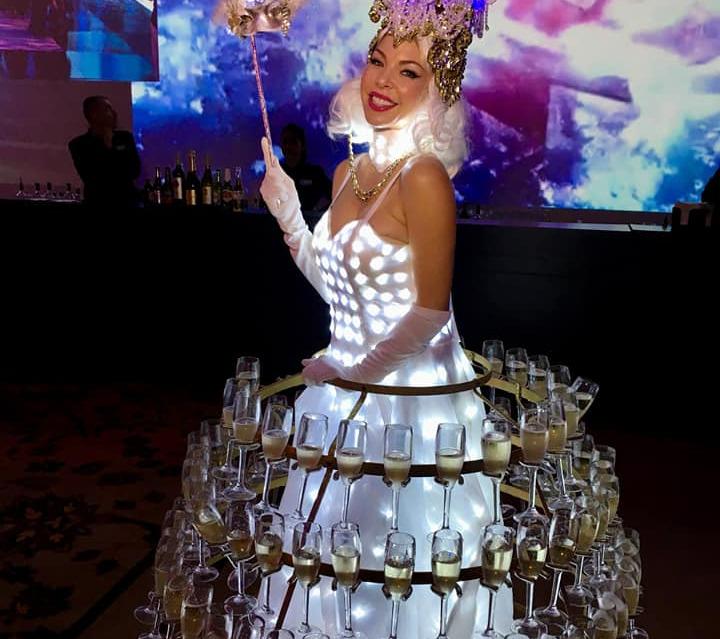 LED light up Champagne Dress