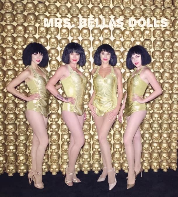 Golden pin up Dolls