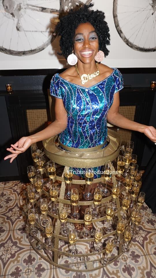 Disco Champagne Skirt