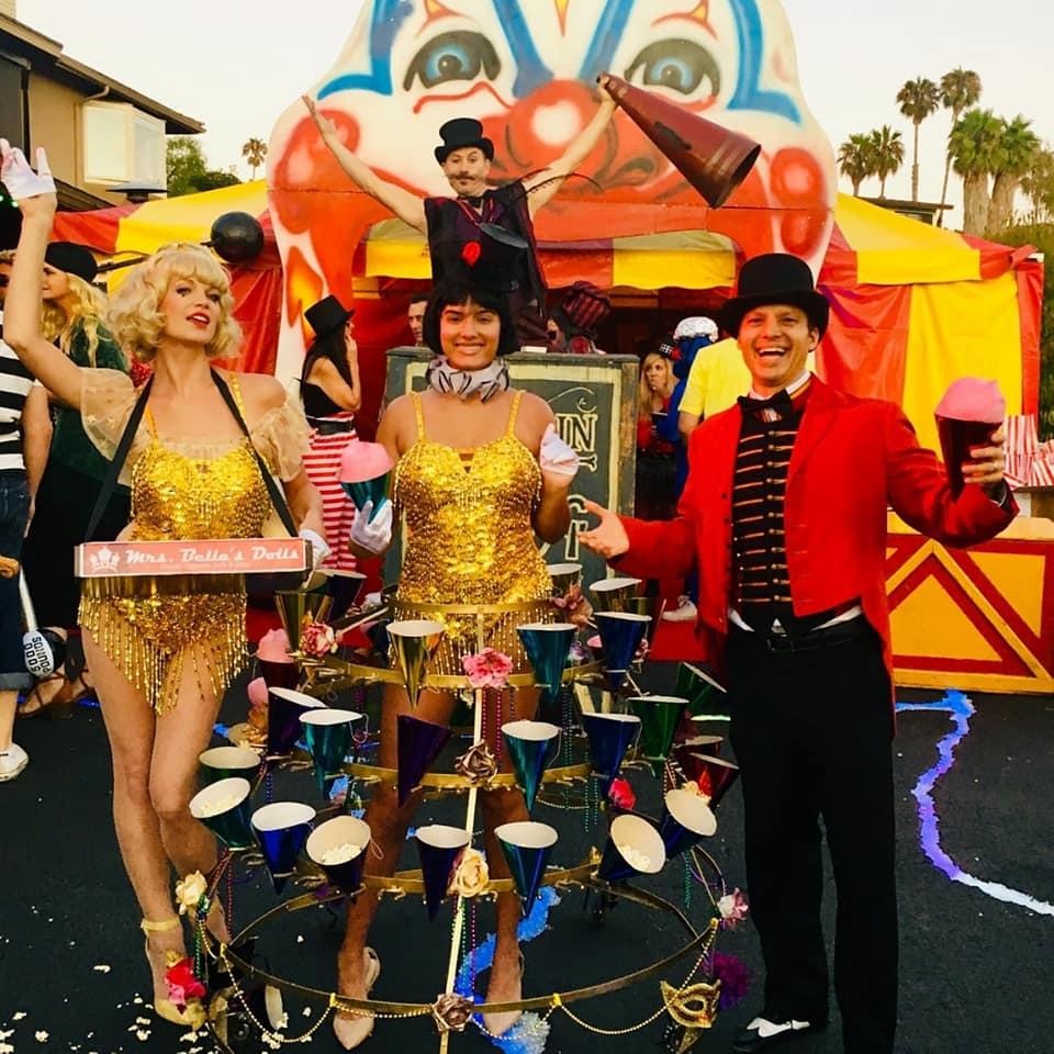 Retro Circus Showgirl Candy Skirt