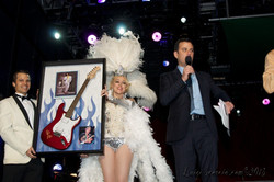 Bella on Jimmy Kimmel stage