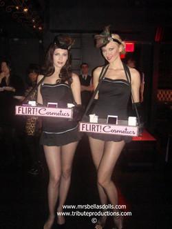 Branded cigarette girl trays