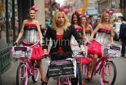 Dolls on bikes in NY