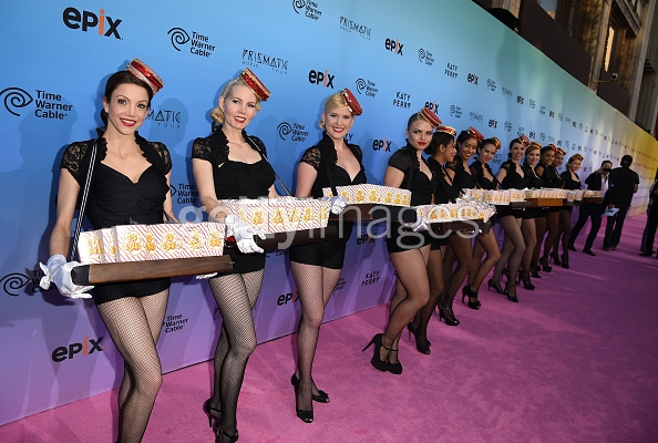 pop corn dolls at movie premier