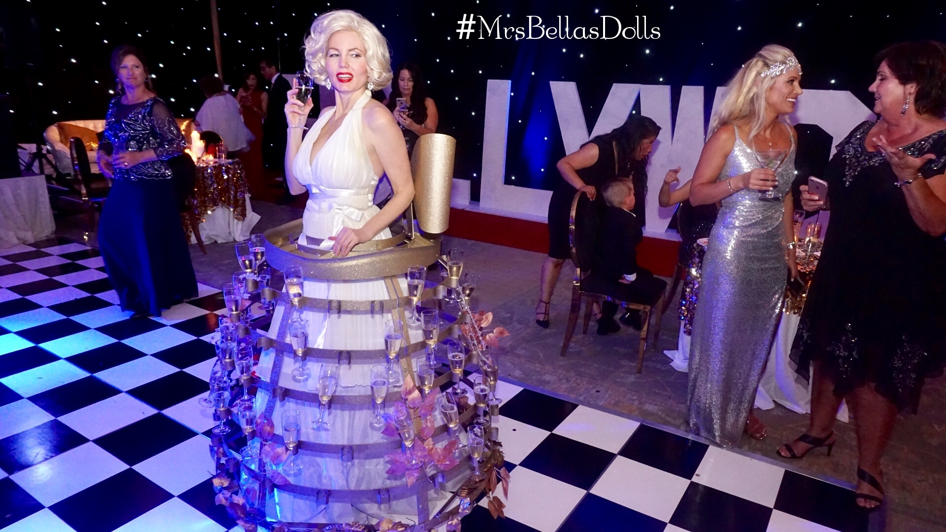 Marilyn Monroe Champagne Dress