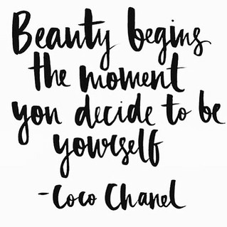 Beauty begins by you being YOU!