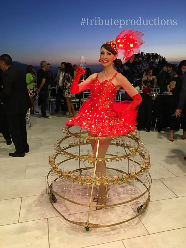 LED Champagne dress