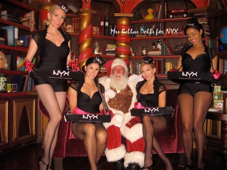 candy girls with Santa