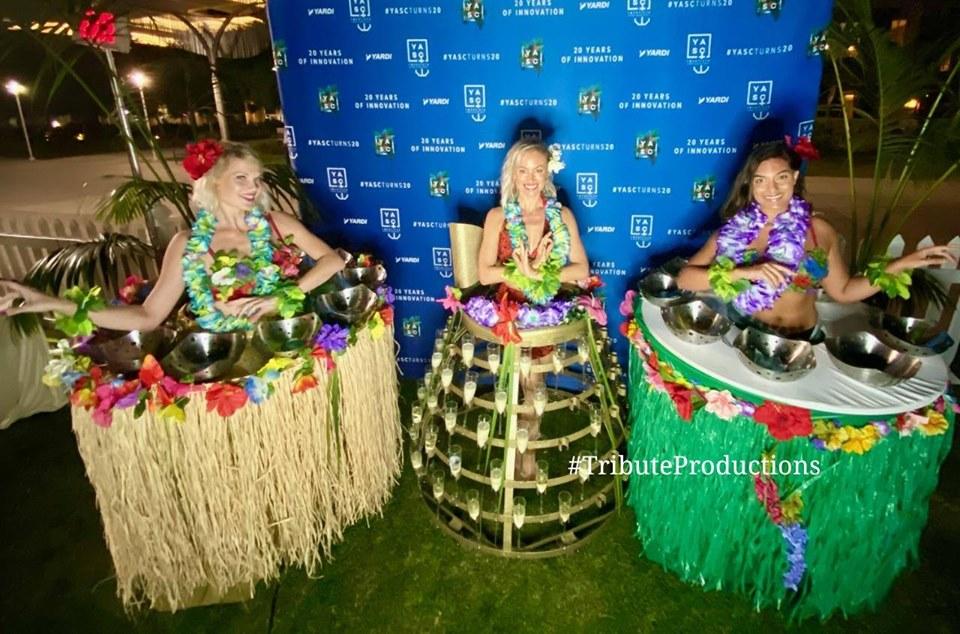 Hawaiian Theme Tiki Human Tables