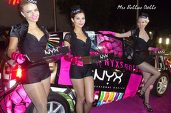 Pink carpet with candy girls