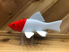 Red N White Fish Decoy