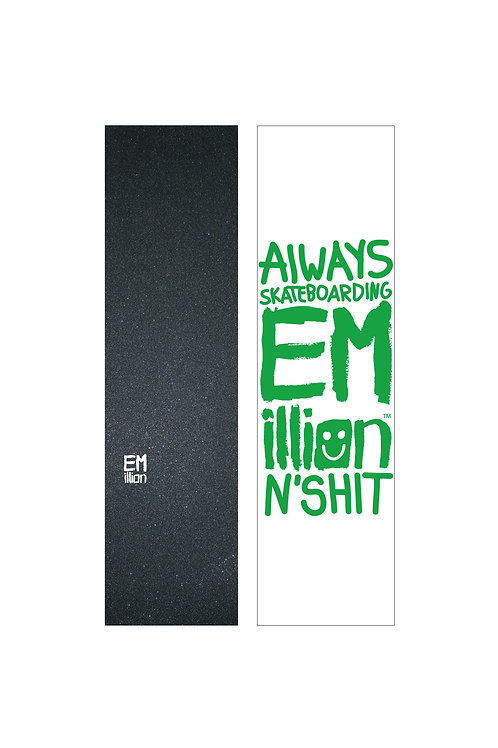 EMillion Small Logo Griptape / White / Single Sheet