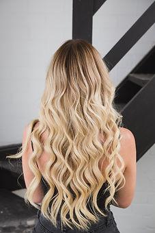 lady's blonde hair
