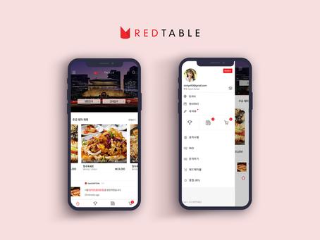 REDTABLE, 빅데이터를 기반으로 맛집검색 및 예약결제 모바일플랫폼 구축.