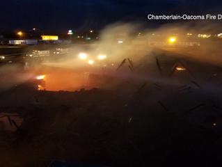 Crews Battling Fire At Oasis Inn